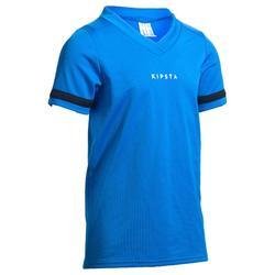 Camiseta de rugby 100 júnior azul