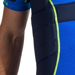 成人款橄欖球肩胸墊R500-藍色