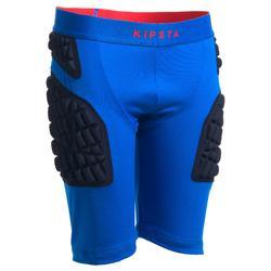 青少年橄欖球防護短襯褲 - 藍