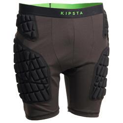 Short con protección Rugby Kipsta R900 adulto gris y verde