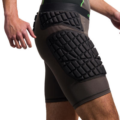 Protective Adult Rugby Undershorts - Grey / Green