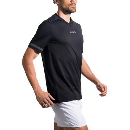 Playera de rugby adulto Full H 100 negro