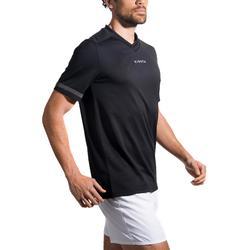 Rugbyshirt voor heren R100 zwart