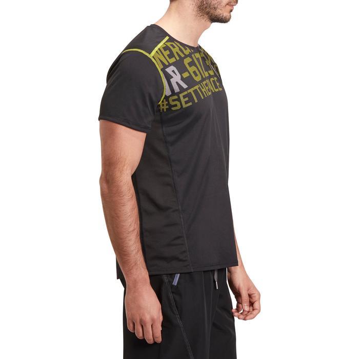 T-shirt fitness cardio homme noir imprimé FTS 120 - 1196468