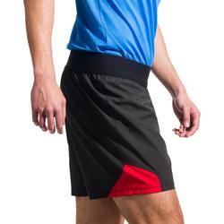 Short rugby homme R500 noir rouge