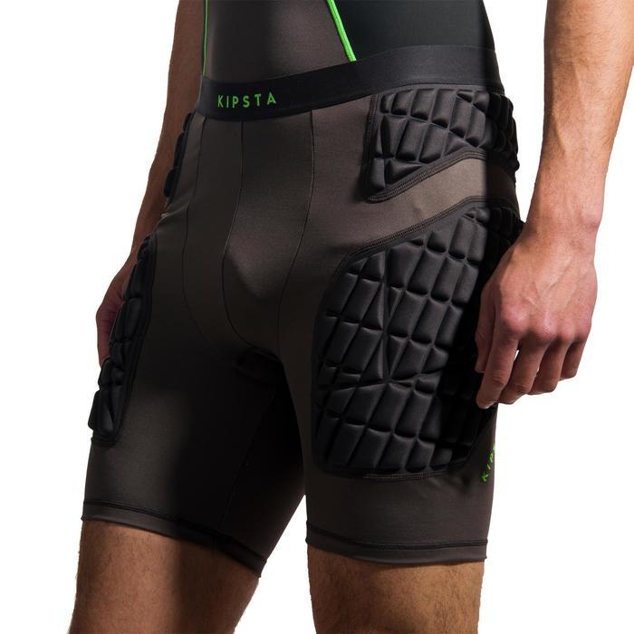 Unterzieh-Shorts Protection Rugby Erwachsene grau/grün
