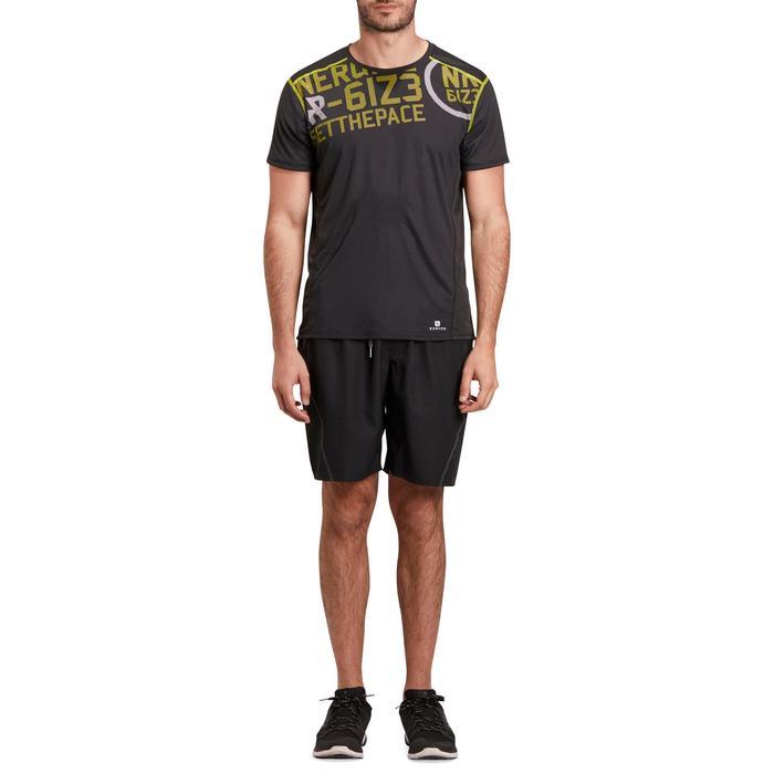 T-shirt fitness cardio homme noir imprimé FTS 120 - 1196506