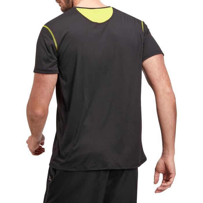 T-shirt fitness cardio homme noir imprimé FTS 120 - 1196513