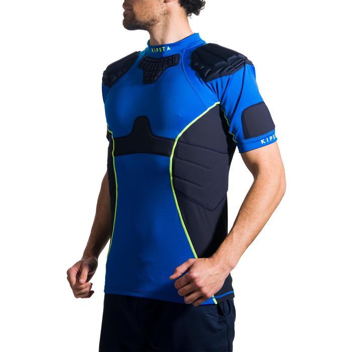 Rugby shoulderpad volwassenen Full H 500 blauw