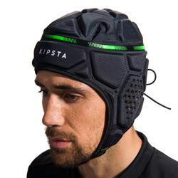 Casco rugby R500 gris oscuro verde