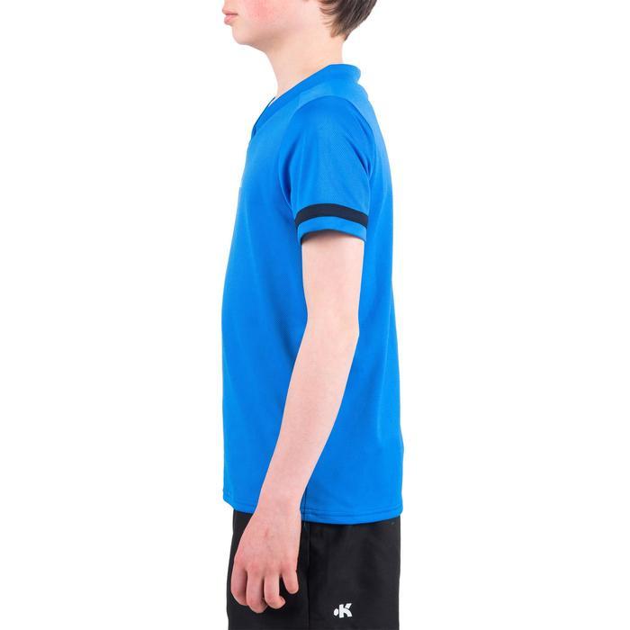 Rugbyshirt voor kinderen 100 blauw