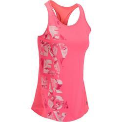 Débardeur fitness cardio femme avec imprimés 120 Domyos