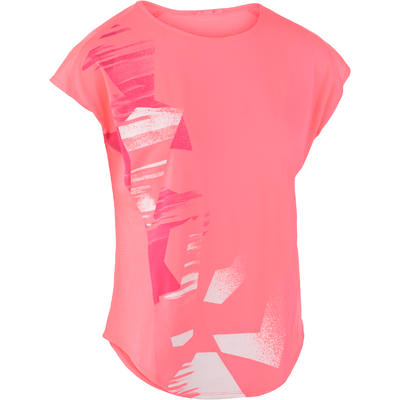 1fb7f36416dd9 T-shirt loose fitness cardio femme rose Energy - Decathlon Guadeloupe