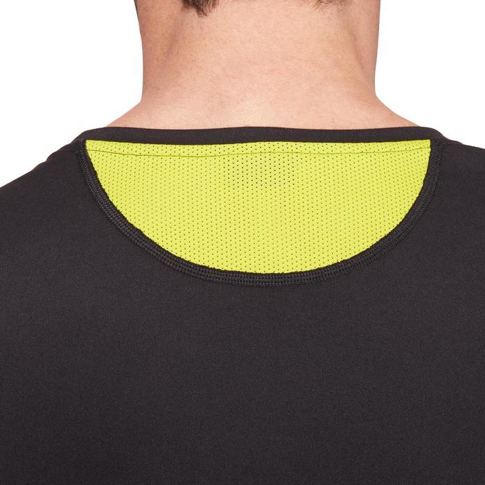 T-shirt fitness cardio homme noir imprimé FTS 120 - 1196696