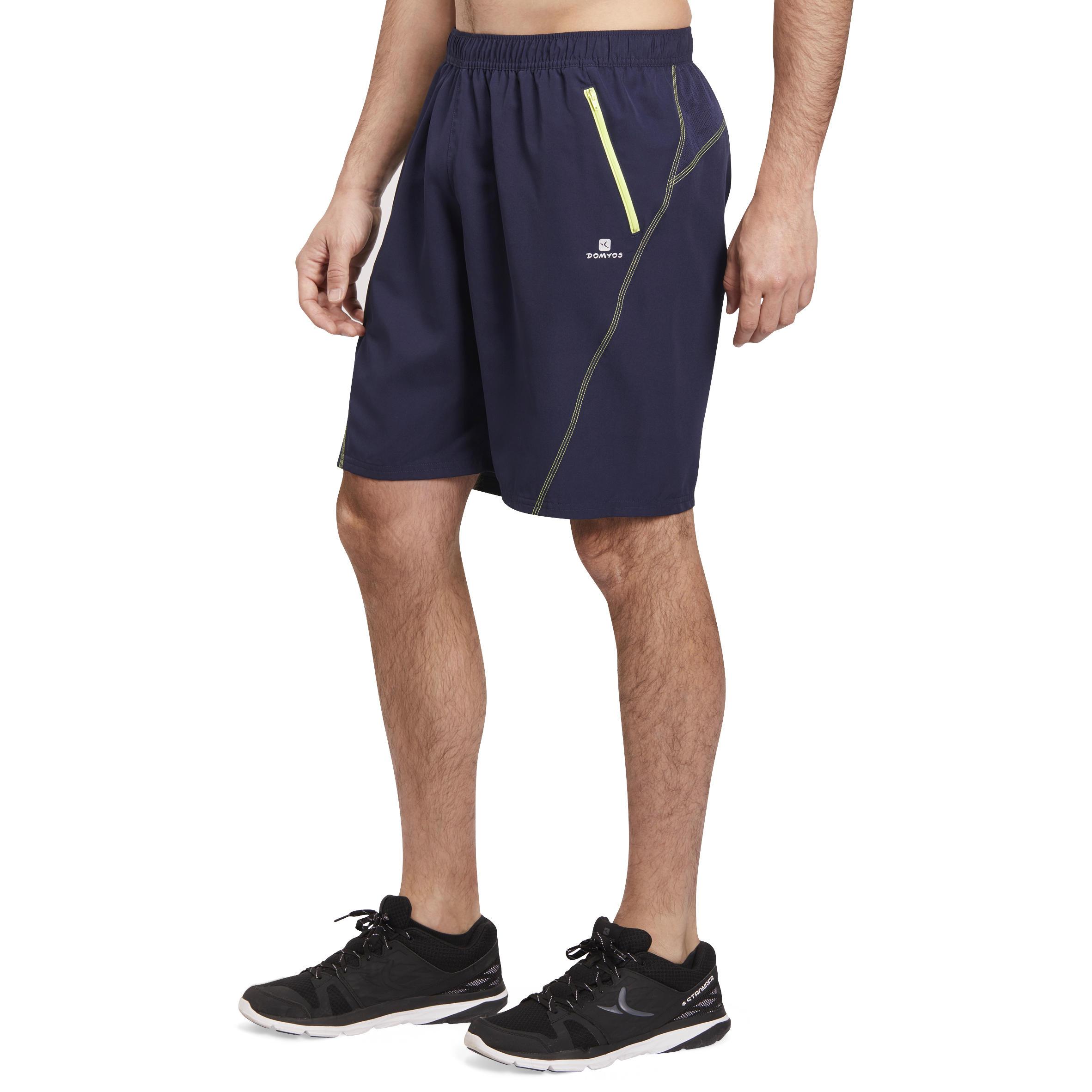 Energy Cardio Fitness Shorts - Blue/Yellow