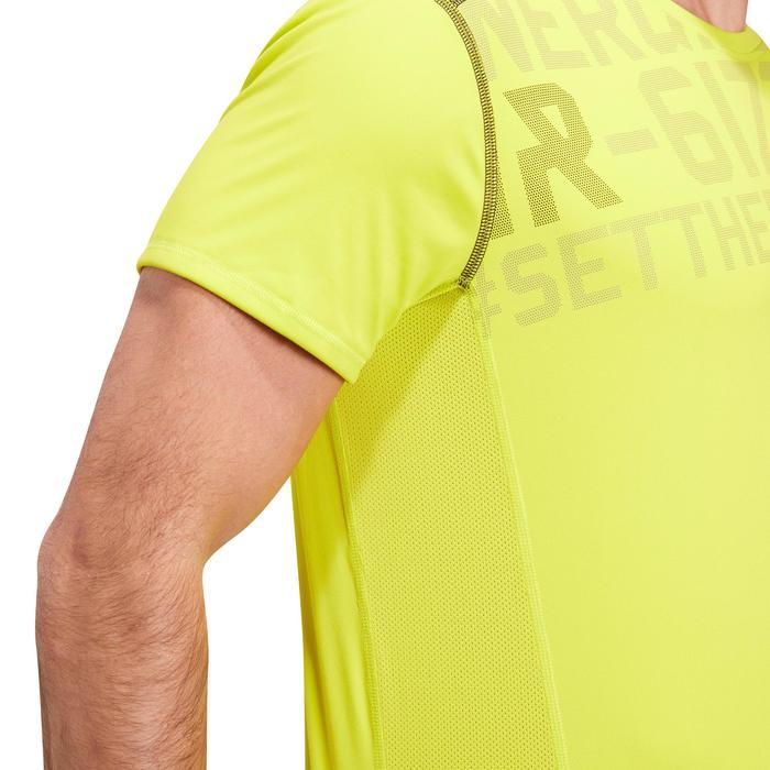 T-shirt fitness cardio homme noir imprimé FTS 120 - 1196730