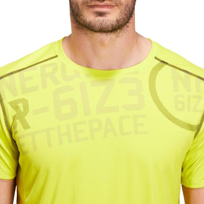 T-shirt fitness cardio homme noir imprimé FTS 120 - 1196745