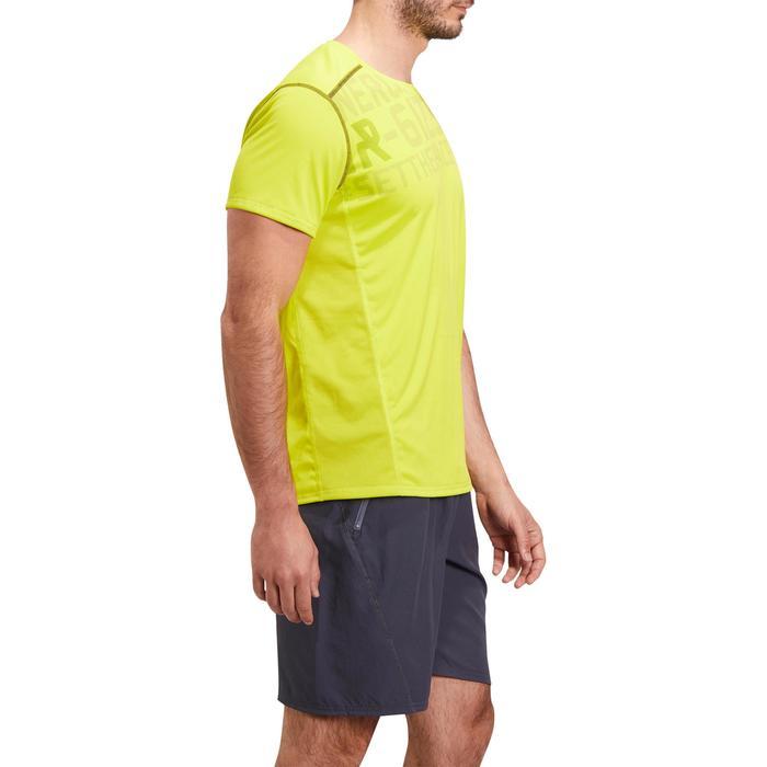 T-shirt fitness cardio homme noir imprimé FTS 120 - 1196769