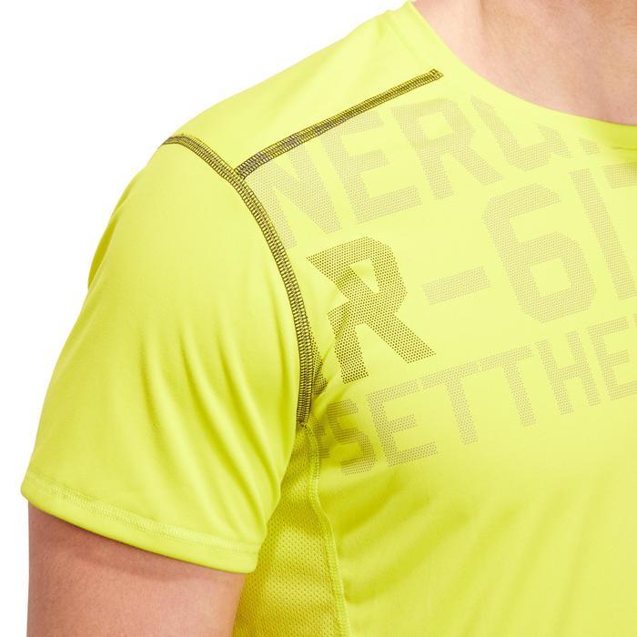 T-shirt fitness cardio homme noir imprimé FTS 120 - 1196781