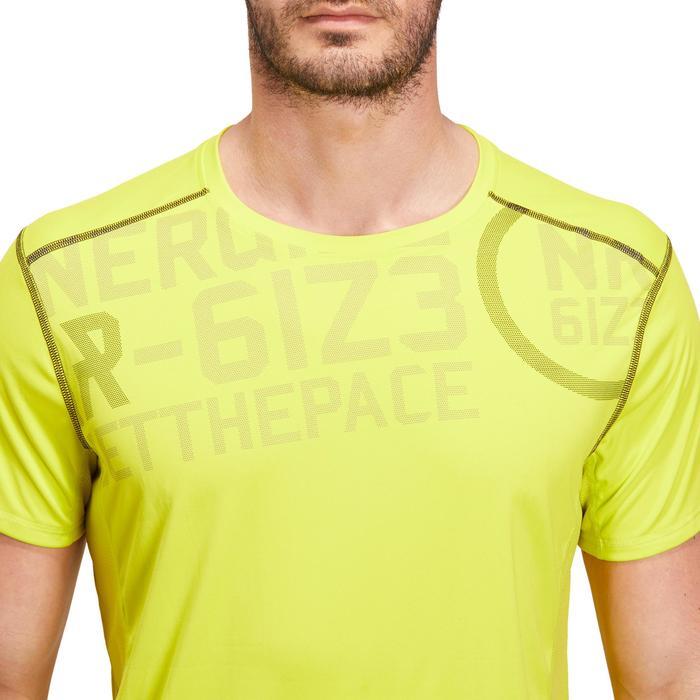 T-shirt fitness cardio homme noir imprimé FTS 120 - 1196880
