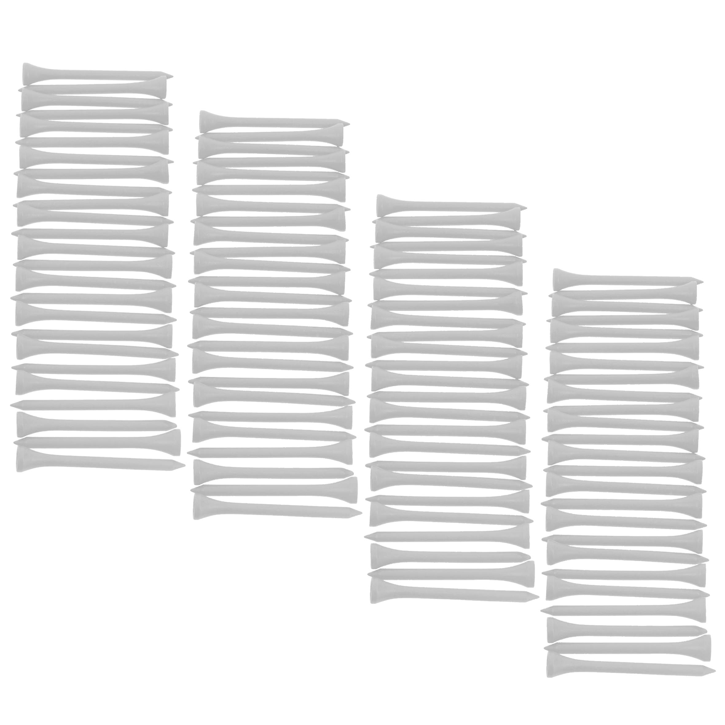 69 mm Wooden Tees x 100 - White