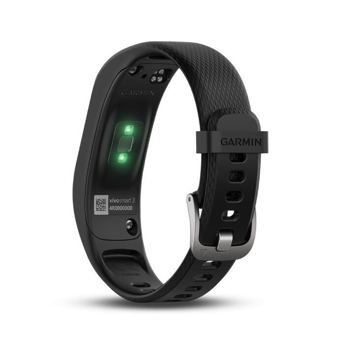 Bracelet d'activité Vivosmart 3 cardio au poignet noir (S/M) - 1196955