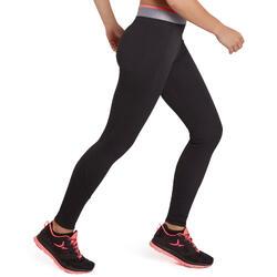 女款有氧健身緊身褲100-黑色