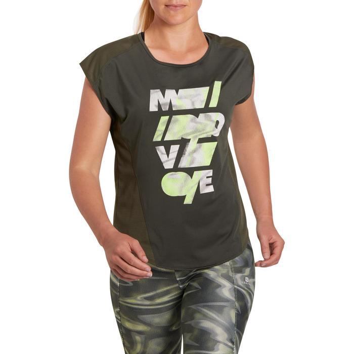 T-shirt loose fitness cardio femme avec imprimés 120 Domyos - 1197016