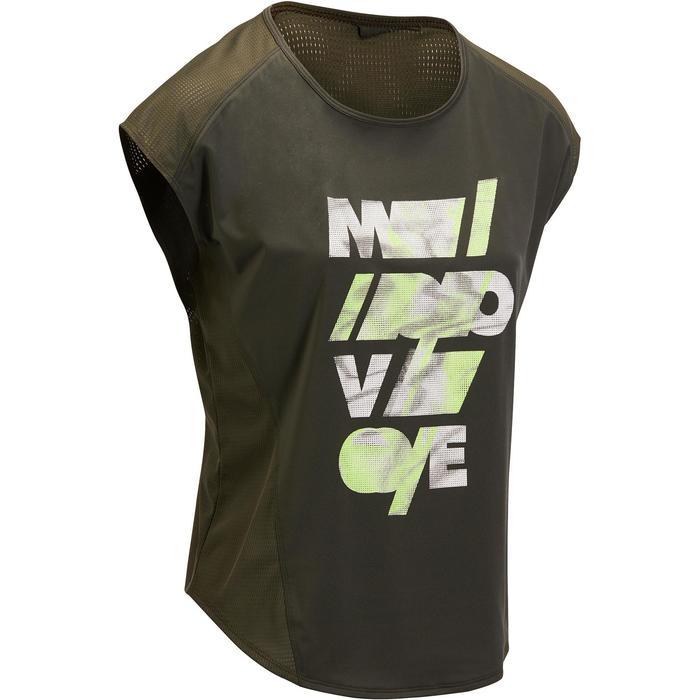 T-shirt loose fitness cardio femme avec imprimés 120 Domyos - 1197033