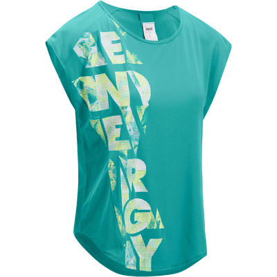 18fc9d197dc64 T-shirt loose fitness cardio femme bleu Energy - Decathlon Guadeloupe