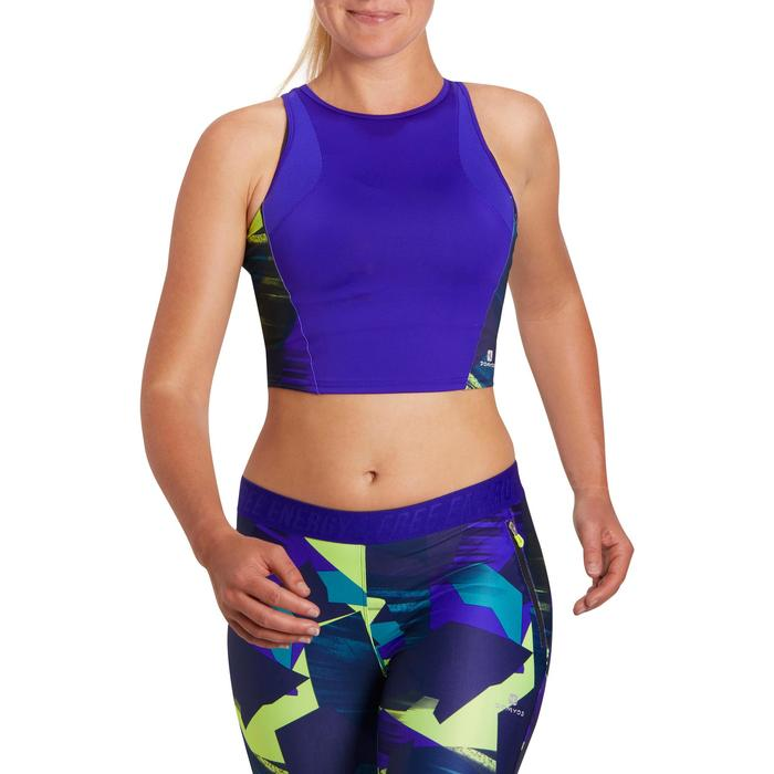 Cropped top fitness cardio femme 500 Domyos - 1197063