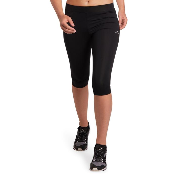 100 Women's Cardio Fitness Cropped Bottoms - Black - 1197068