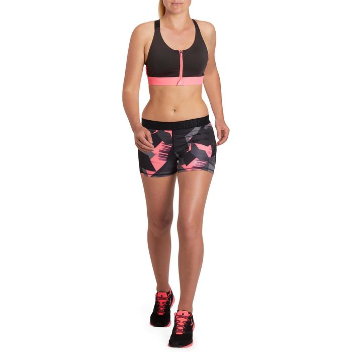 500 Women's Cardio Fitness Shorts - Pink Tropical Print - 1197073
