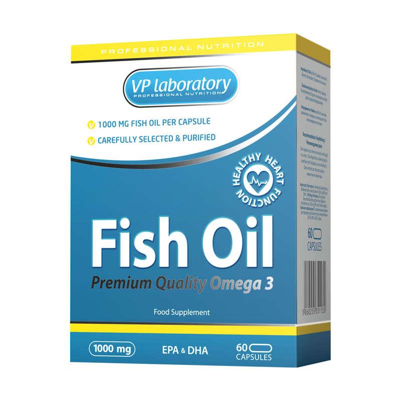ПРОТЕИНЫ, БИОЛОГИЧ АКТИВ ДОБАВКИ Спортивное питание - Рыбий жир 1000 мг 60 кап. VPLAB - Спортивное питание