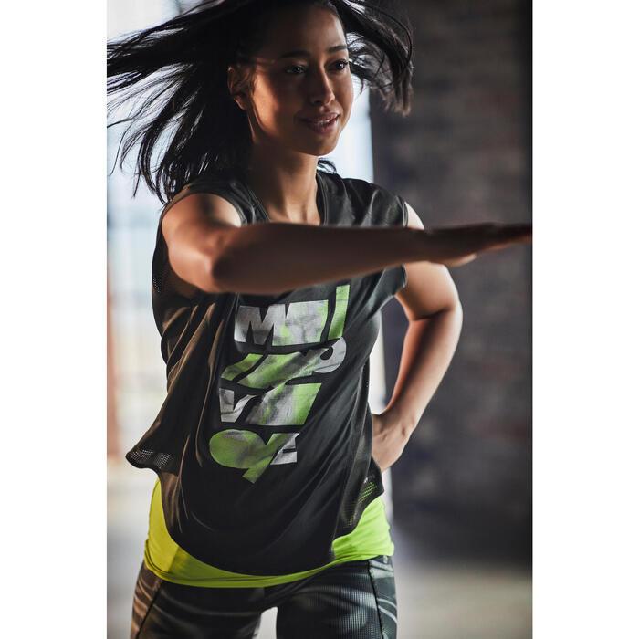 T-shirt loose fitness cardio femme avec imprimés 120 Domyos - 1197102