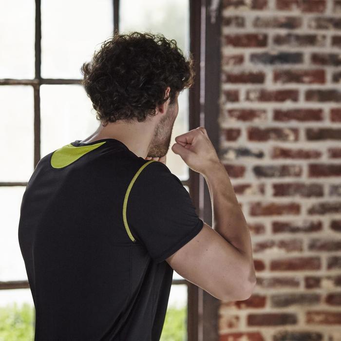 T-shirt fitness cardio homme noir imprimé FTS 120 - 1197172