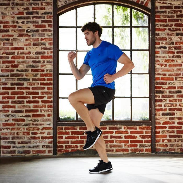 T-Shirt Cardio Energy 100 Fitness Herren blau