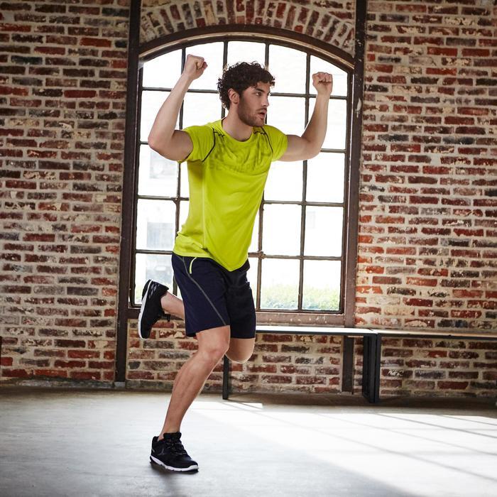 T-shirt fitness cardio homme noir imprimé FTS 120 - 1197181