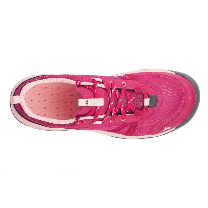 女款郊野健行防水靴NH500 Fresh-粉紅色
