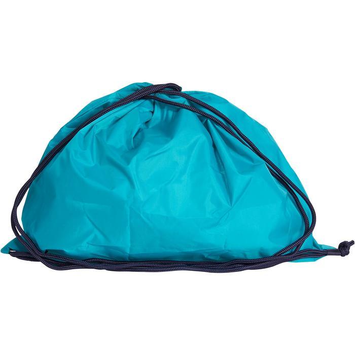 Sac à casque pliable turquoise et marine