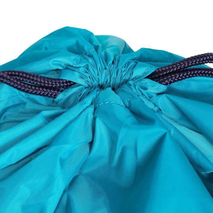 Opvouwbare helmtas turquoise en marineblauw