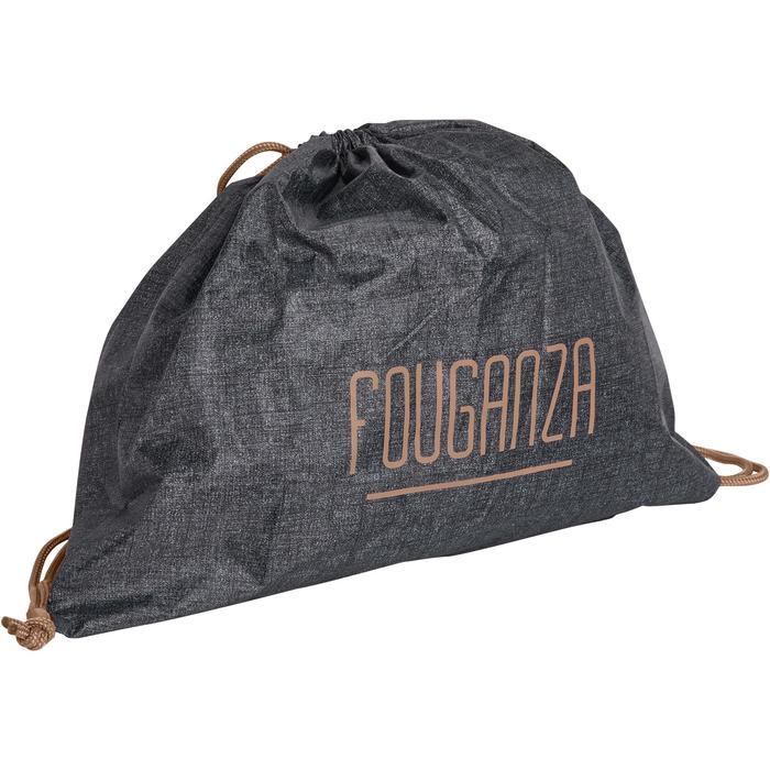 Helmtasche faltbar graumeliert/camel
