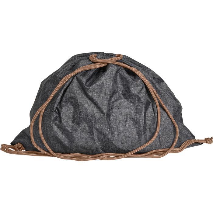 Bolsa para casco plegable gris jaspeado/camel