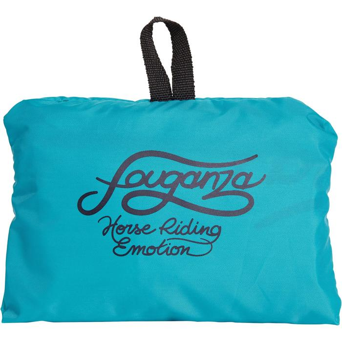 Folding Helmet Bag - Turquoise and Navy