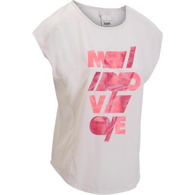 fa1947f87d69c T-shirt loose fitness cardio femme blanc Energy - Decathlon Guadeloupe