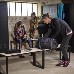 Fitnessvest Energy voor dames, voor cardiotraining, zwart met roze accenten - 1197326