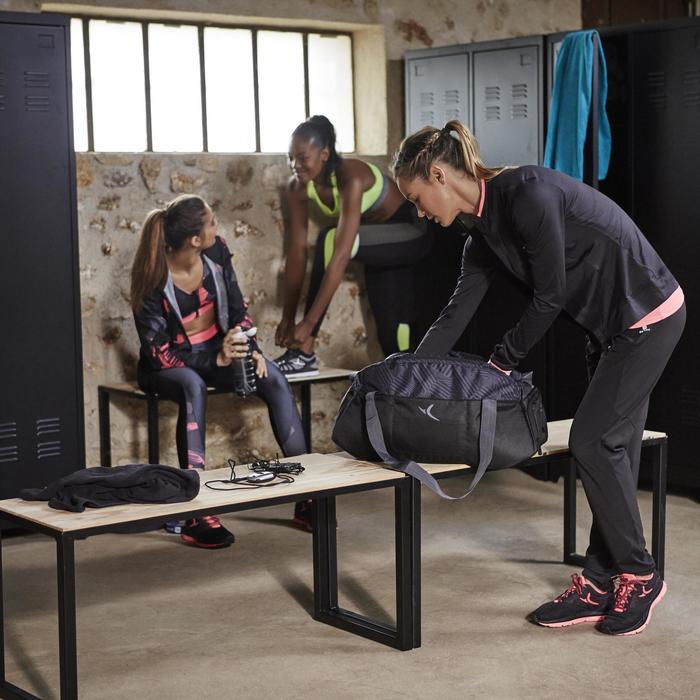 Pantalon regular fitness cardio-training femme noir 100