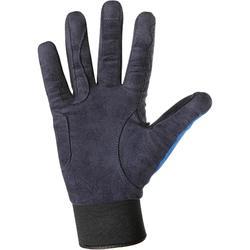 Gants chauds équitation adulte PERF bleu marine/bleu roi