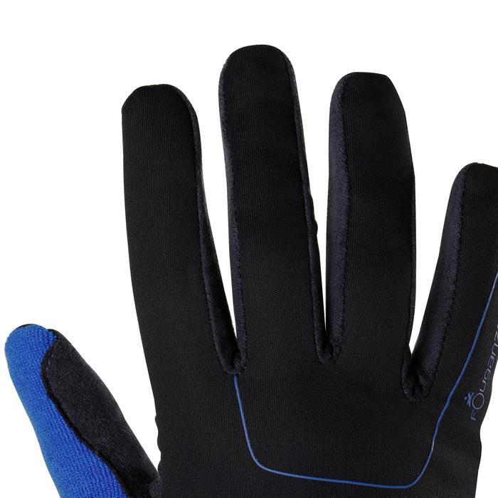 Guantes cálidos de equitación adulto PERF azul marino / azul royal