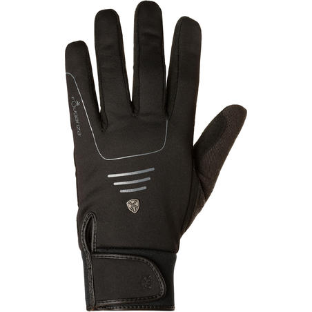Gants chauds d'équitation adulte PERF noir
